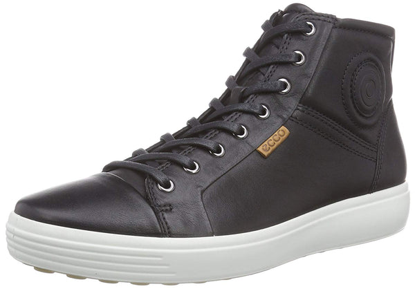 ECCO Men's Soft 7 High Top Fashion Sneaker, Black, 46 EU/12-12.5 M US