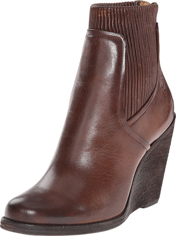 Frye Women's Carrie Scrunch Back Zip Dark Brown Antique Pull Up Boot