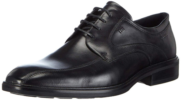 ECCO Men's Illinois Bike Toe Tie Oxford, Black, 43 EU/9-9.5 M US