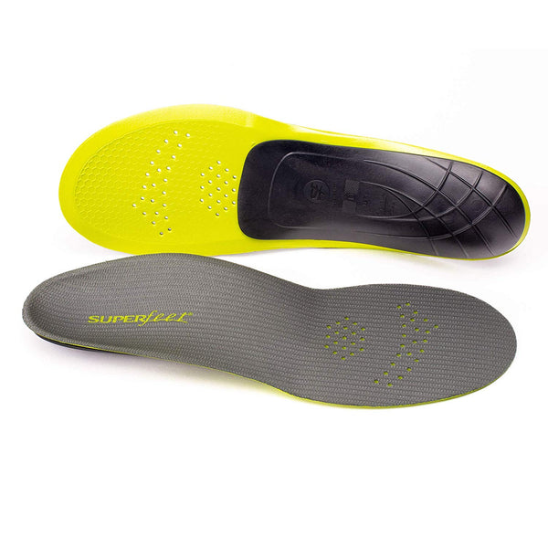 Superfeet CARBON, Sport Shoe Carbon Fiber Performance Thin Insoles, Unisex, Gray, XX-Large/13.5-15 Mens / 14.5+ Wmns