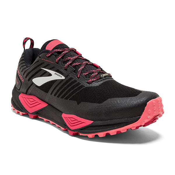 Women's Cascadia 13 GTX Black/Pink/Coral