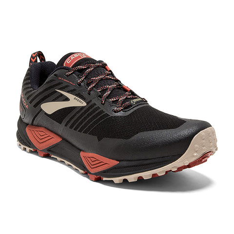 Men's Cascadia 13 GTX Black/Red/Tan