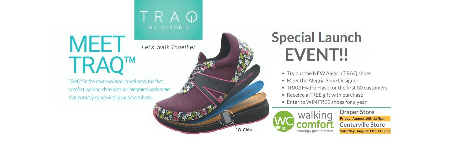 Alegria TRAQ Event at Walking Comfort
