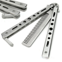 Super Cool Stainless Steel Butterfly Knife Comb
