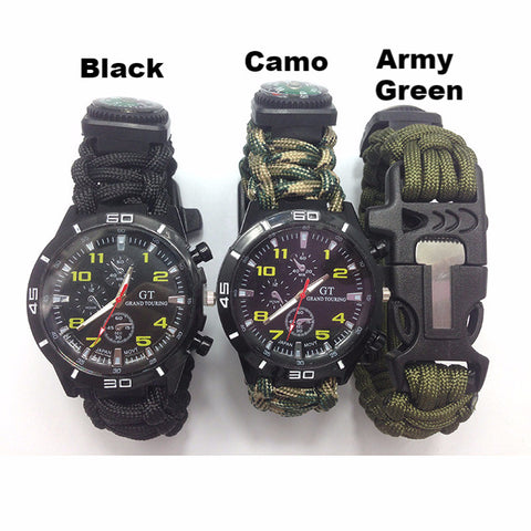 5 in 1 Paracord Survival Watch