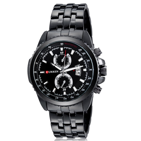 CURREN Military Stainless Steel QUARTZ Men's WATCH