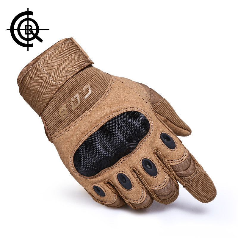 CQB Outdoor Tactical <font><b>Gloves</b></font> Full Finger Sports Hiking Riding Cycling Military Men's <font><b>Gloves</b></font> Armor Protection Shell <font><b>Gloves</b></font> ST0055
