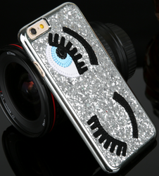 Awesome Glitter Flirting Eyes Iphone 5 5S 6 6 plus 3D Hard Cover Case