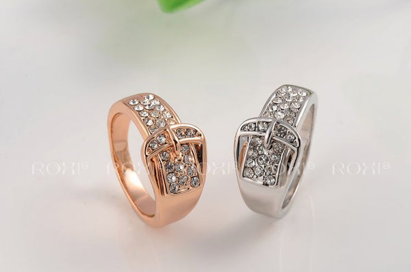 Creative Belt-Buckle Zircon Stone Ring