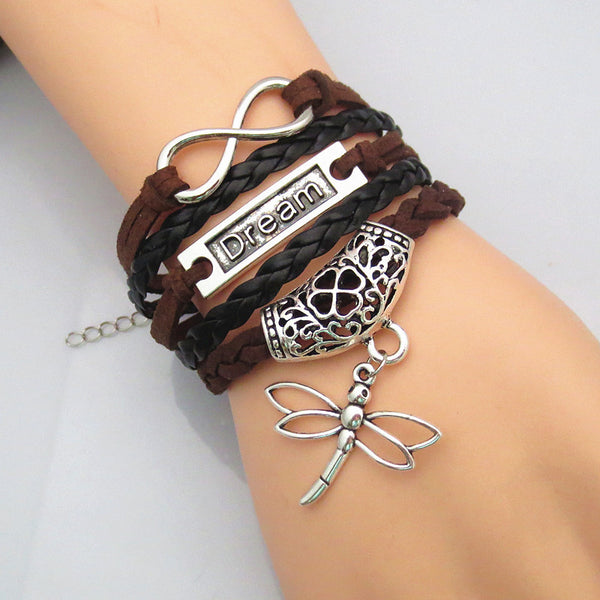 Leather Braided 'Dream' Bracelets