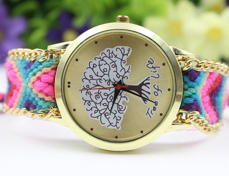 Handmade Weave Rope 'Tree Of Life' Bracelet Watch