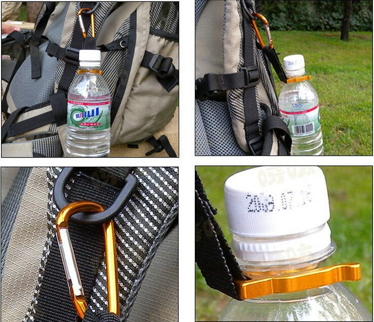 1pc Carabiner Water Bottle Buckle Hook Holder Clip
