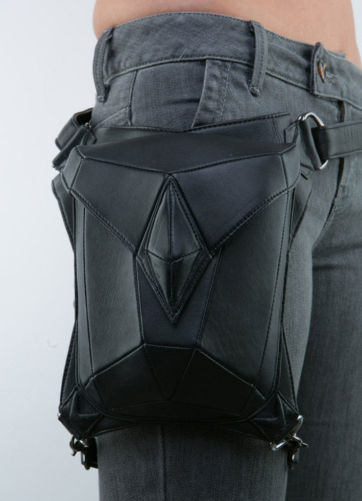'Lara Croft' Leather Geometric Waist Bag
