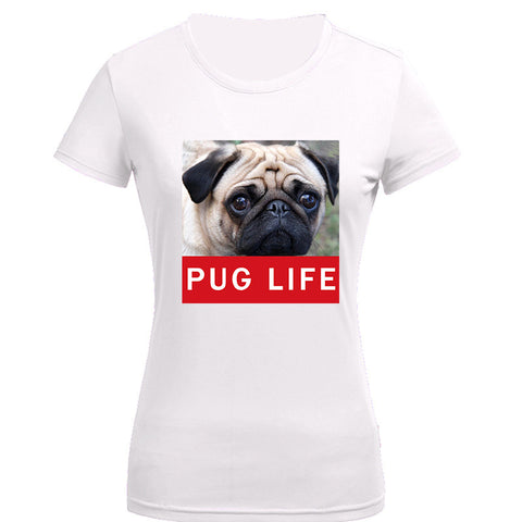 Cute Pug Life T Shirts Women