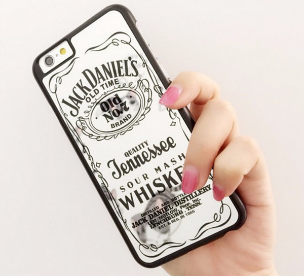 Jack Daniel Whiskey Glossy Mirror iPhone 5 5s 6 6S 6 Plus Cover