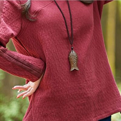 Wooden Fish Necklace