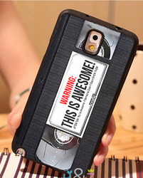VHS Retro-Cassette-Tape Cell Phone Case For Samsung Galaxy S3-S4- Note 2-3-4