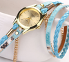 Leather Wrap Bracelet Watch