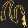 18K Gold Cat Pendant Necklace
