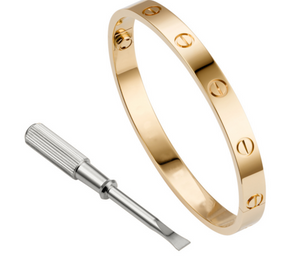 Beautiful 18K Gold GP New Cartier inspired Love bracelet