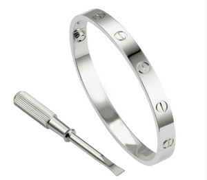Beautiful Silver New Cartier inspired Love bracelet
