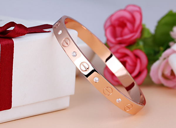 Beautiful Rose Gold New Cartier inspired Love Bracelet