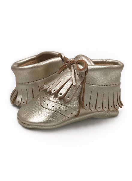 Baby SunFlower Gold Moccasins