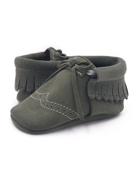 Baby SunBow Green Moccasins