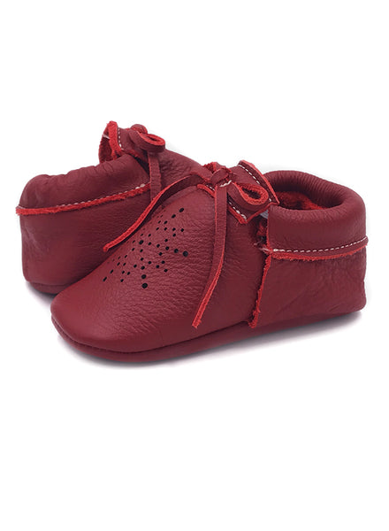 Baby SunBow Red Star Moccasins