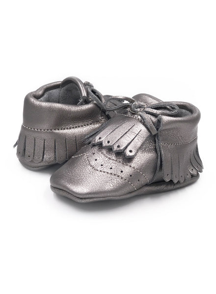 Baby SunFlower Silver Moccasins