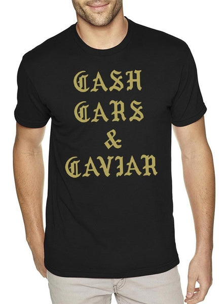 Cash Cars Caviar Gold Mens T-Shirt