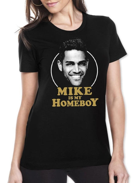Mike Is My Homeboy Black Womens T-Shirt