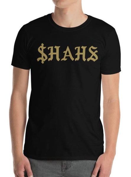 $hahs Short-Sleeve Mens Black T-Shirt