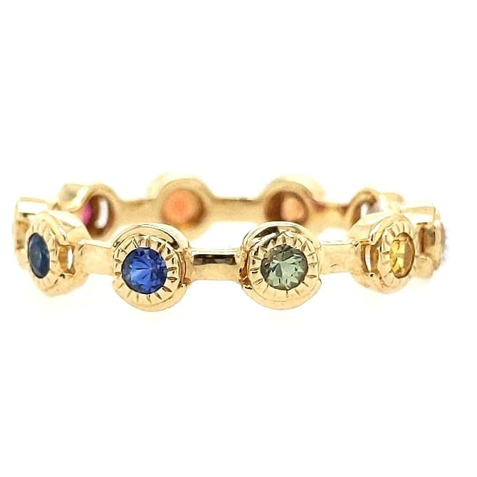 Sloan - Multi Color Rainbow Natural Sapphire Ring