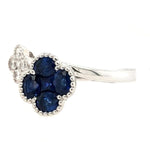 Gullveig - 18k White Gold, Natural Sapphire and Diamond Ring