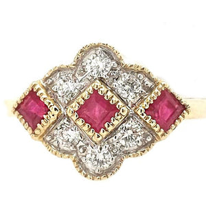 Aurelia -Ruby and Diamond Medallion Ring