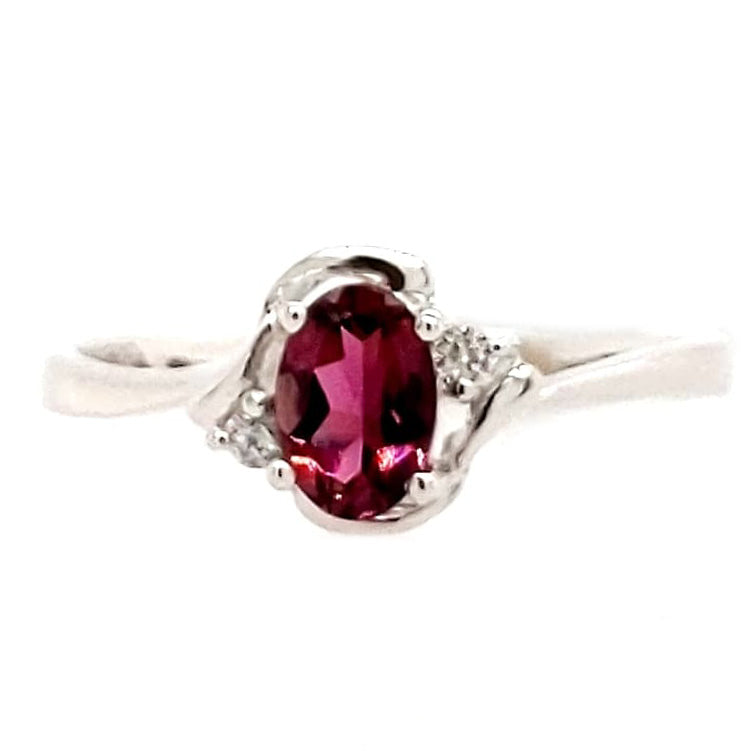 Penelope - Tourmaline and Diamond Gold Ring