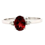 Della- Garnet and Diamond Ring