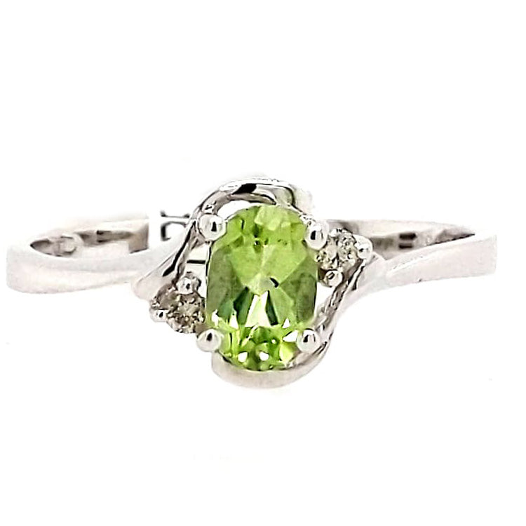 Everly - Peridot and White Gold