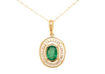 Marge - .42 ct Natural Emerald and Diamond Necklace