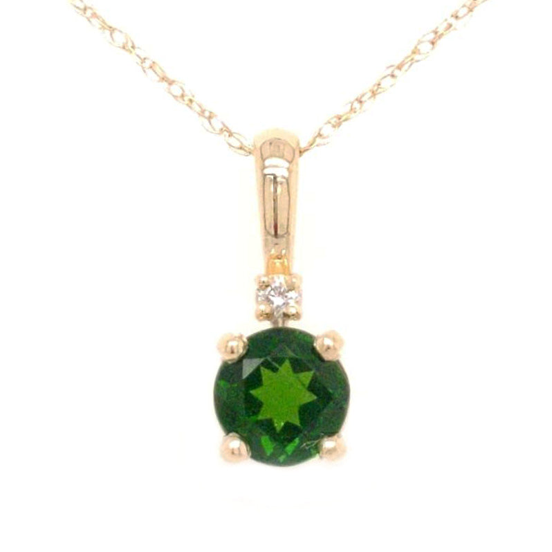 Tempeste - Chrome Diopside Gemstone, Diamond, and Gold Necklace