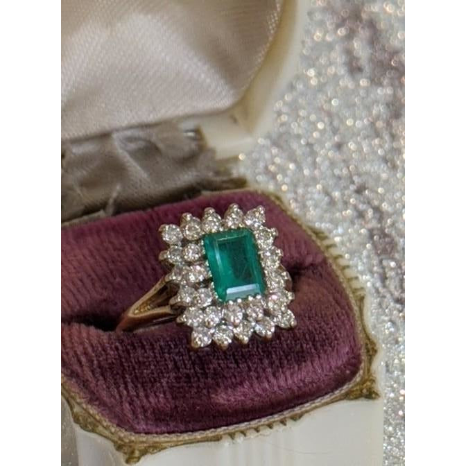 """Kingsley"" Emerald Square Ring"