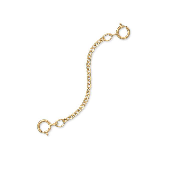 "14/20 Gold Filled 2"" Safety Chain (Set of 2)"