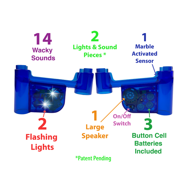 Lights & Wacky Sounds Marble Run Accessory Set