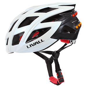 Livall smart helmet with turn indicators and emergency SMS from Teros