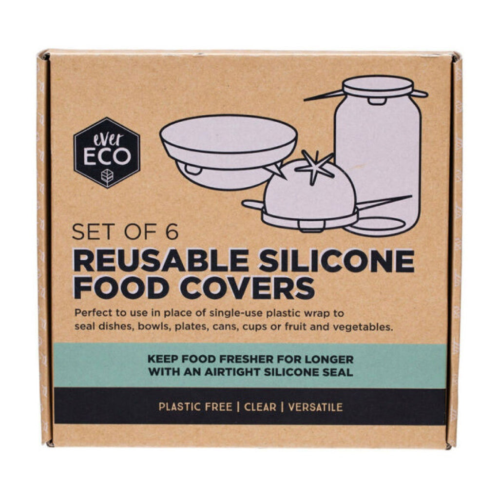 Ever Eco Reusable Silicone Food Covers (6 Pack) Teros Tasmania