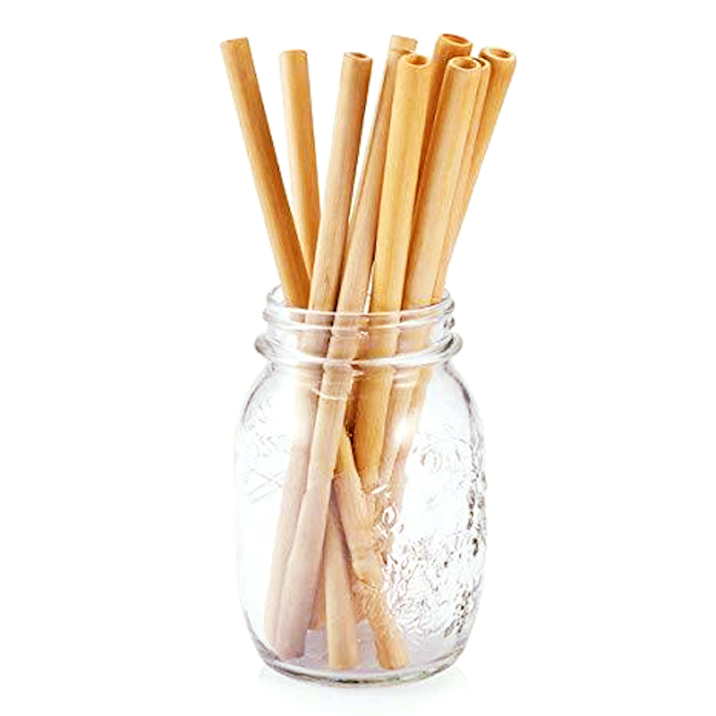 Straight bamboo straw