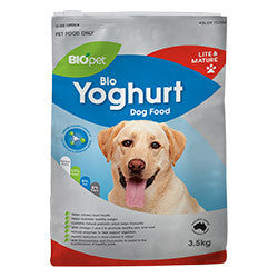 BIOpet Yoghurt Lite and Mature Dog Food 10.5 kg (3.5 kg x 3)