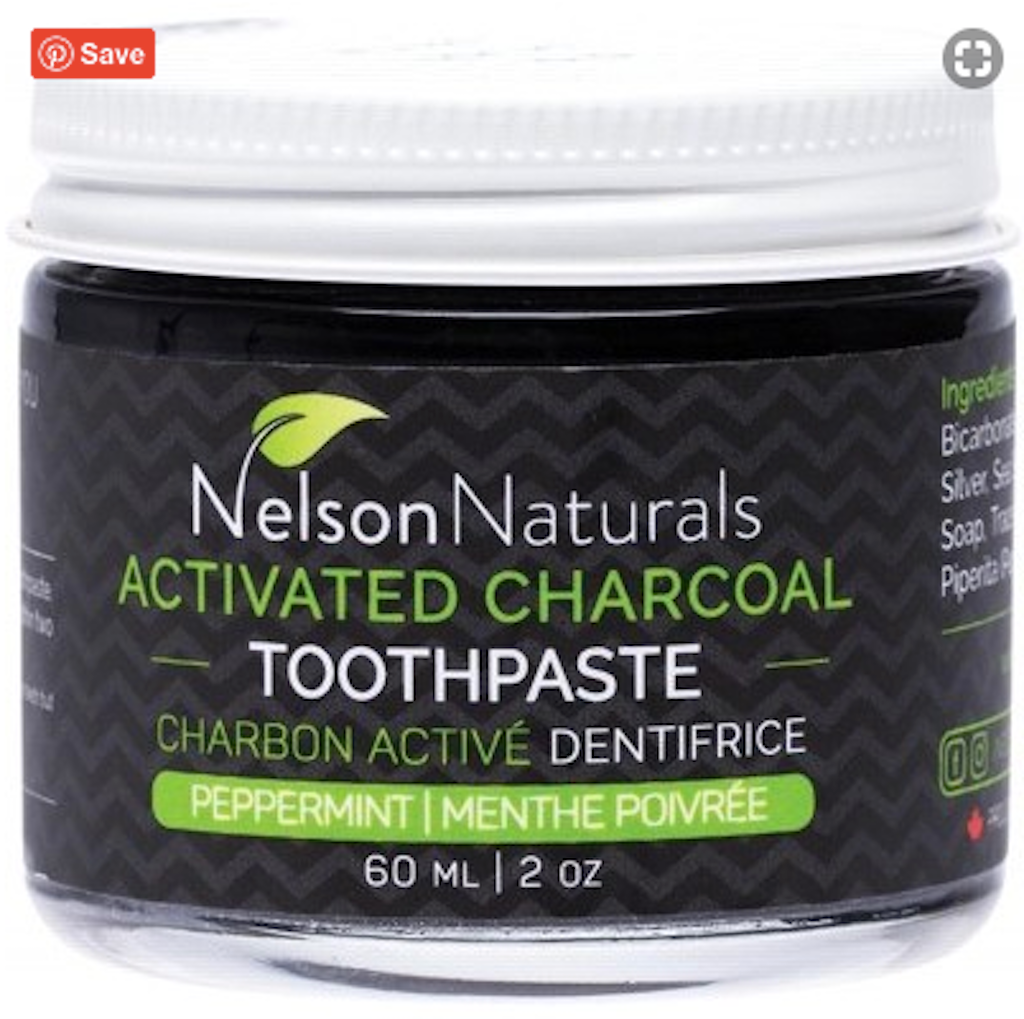 Nelson Naturals Activated Charcoal Toothpaste 60 ml Teros