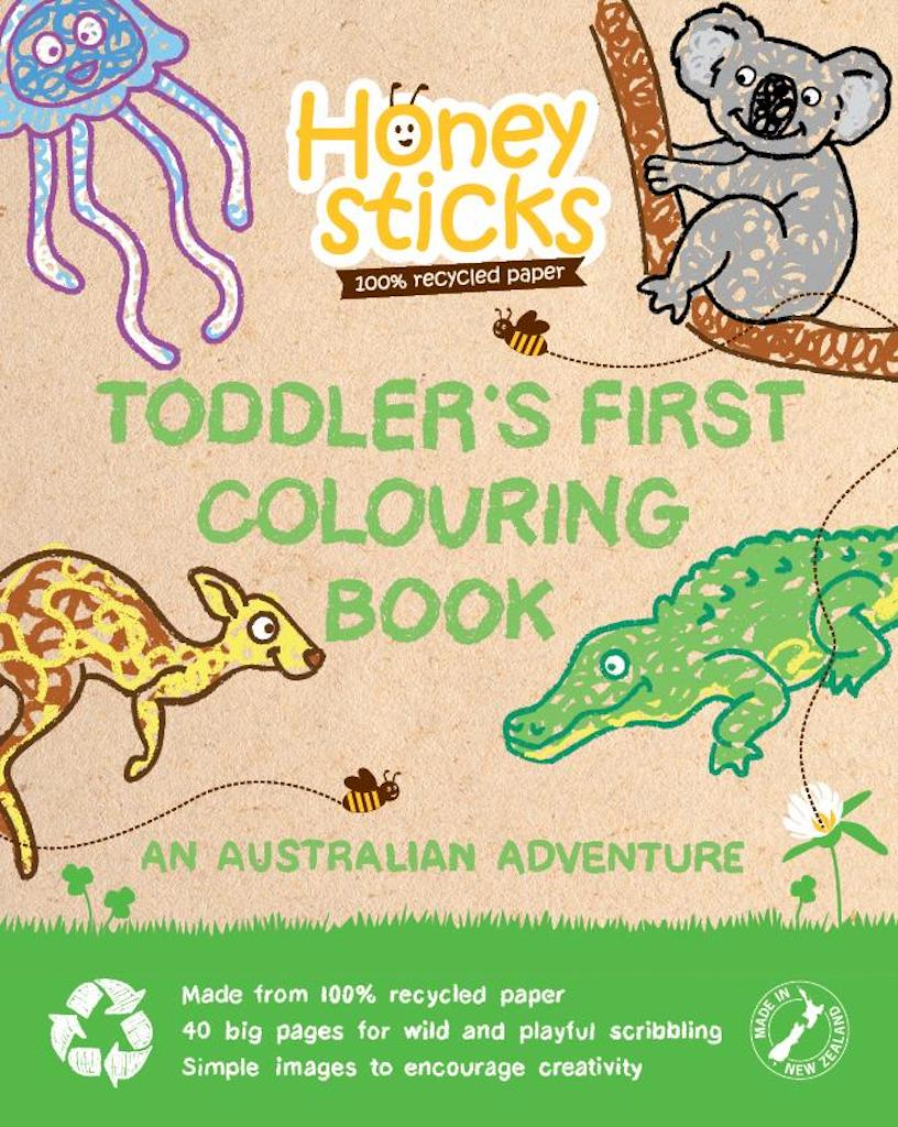 Honeysticks Toddler's First Colouring Book Australian Adventure Teros